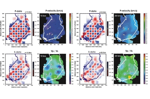 Tomographic imaging of seismic velocity structure