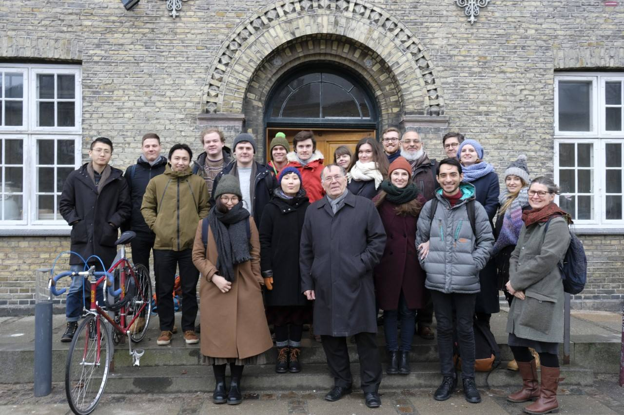 USP students and teachers on a field excursion in Copenhagen, visiting architect Jan Gehl.