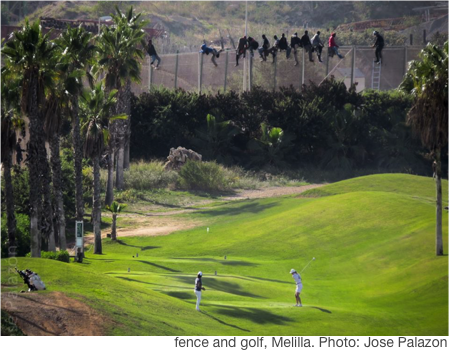 fence and golf, Melilla. Photo: Jose Palazon